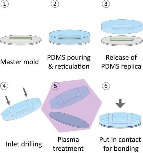 moulage d'un dispositif microfluidique