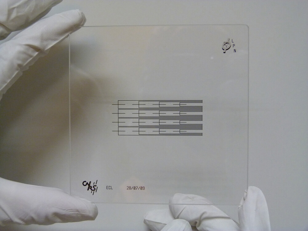 Microfluidic technology Photolithography mask