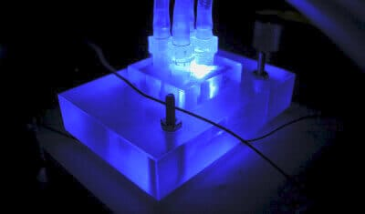 free copyright microfluidic chip holder under UV
