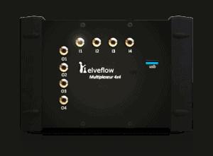 microfluidic flow multiplexer 4x4