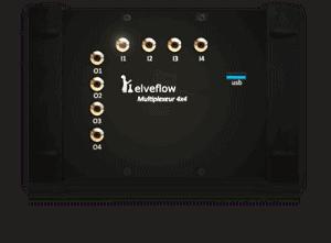 microfluidic flow multiplexer