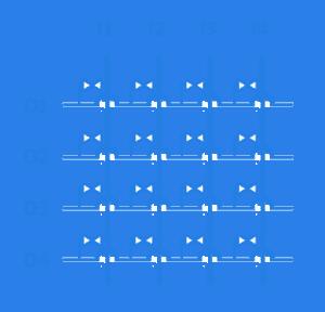 multiplexer microfluidic valve scheme