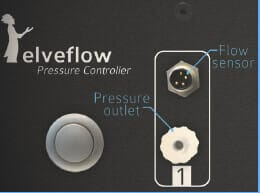 flow sensor flow control pressure outlet