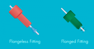 Microfluidic-Fittings-And-Plugs-Thread-Flanged-VS-Flangeless