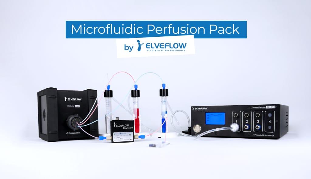 Perfusion pack banner smartphones- setup Elveflow microfluidics