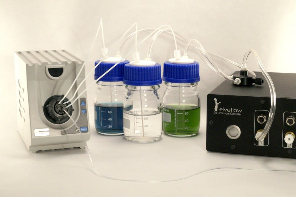 Perfusion Pack Content - Injection platform for DNA assays on chip