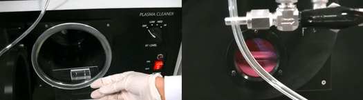 pdms soft lithography replication device plasma cleaner bonding