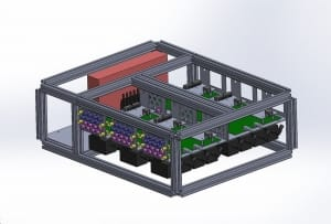 Microfluidic Flow controller 24 ouputs 3D design