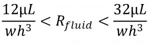 microfluidic nanofluidic flow control equation fluidic resistance prediction