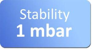 microfluidic vacuum source stability