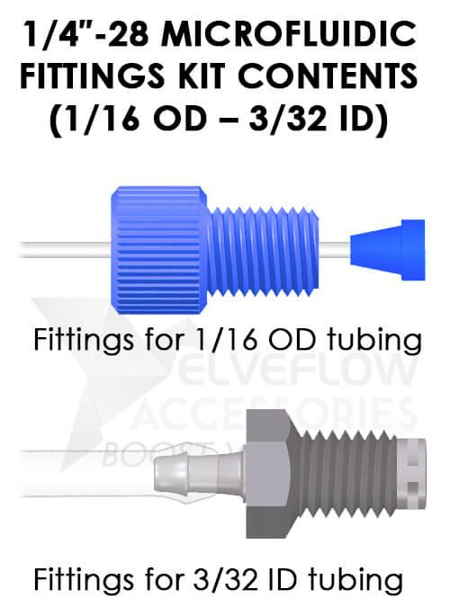 ″ microfluidic fittings kit od id