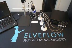 Hydrodynamic flow focusing Microfluidic Setup 2