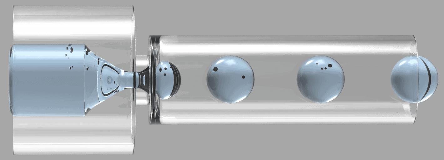 Microfluidics droplet flow focusing emulsion science on chip
