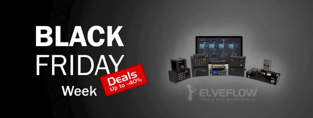 Black Friday Week deals elveflow microfluidics discount up to -40%