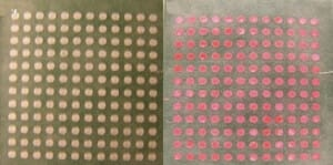 Laser treatment on different hydrophobic papers