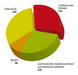 Figure 2: From S. Mendis, P. Puska, B. Norrving, World Health Organization, World Heart Federation, and World Stroke Organization, Eds., Global atlas on cardiovascular disease prevention and control. Geneva: World Health Organization in collaboration with the World Heart Federation and the World Stroke Organization, 2011.
