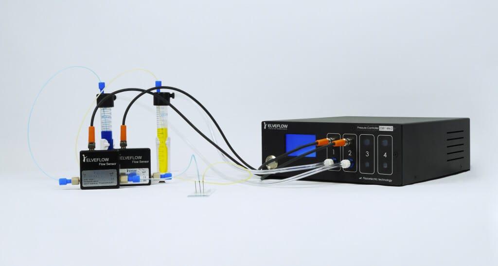Droplet pack - Elveflow microfluidics OB1, pressure controller