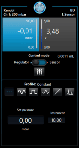 OB1 MK3+ pressure controler software interface